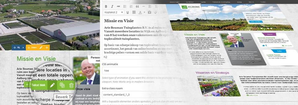 Nieuwe WordPress technieken voor Arie Bouman Tuinplanten